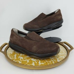 MBT Brown Orthopedic Walking Slip On Toning Shoes